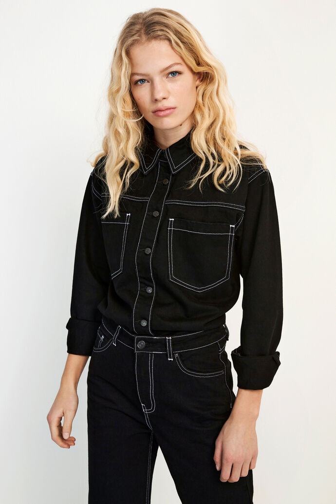ENBREE LS SHIRT 6711, BLACK