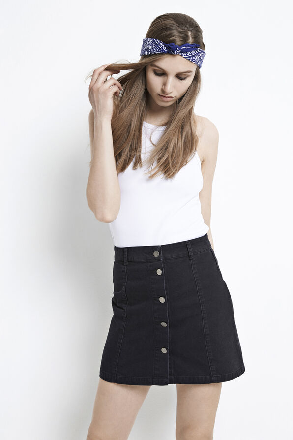 ENTIKVA SKIRT WORN BLACK 6356, WORN BLACK