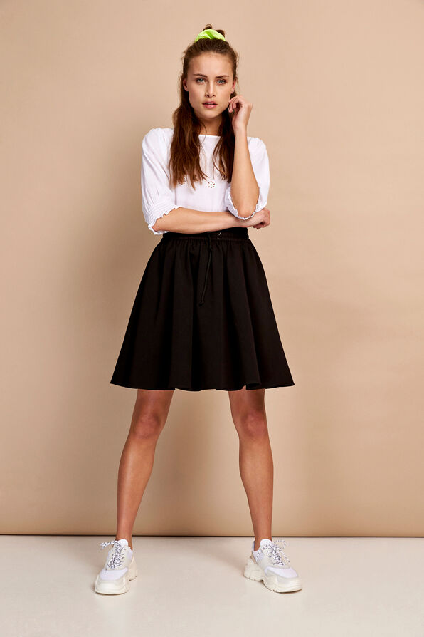 ENHUNTINGTON SKIRT 6603, BLACK