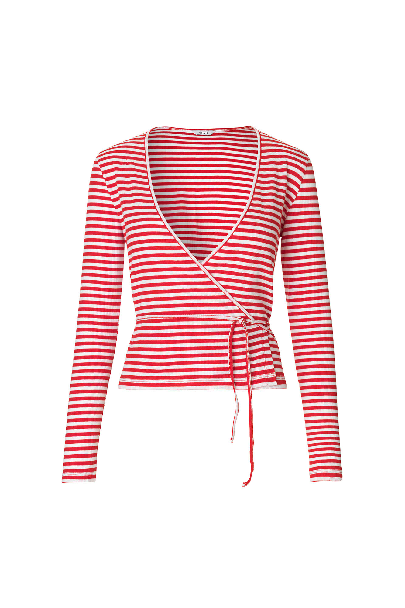 ENALLY LS V-N TEE STRIPE 5892