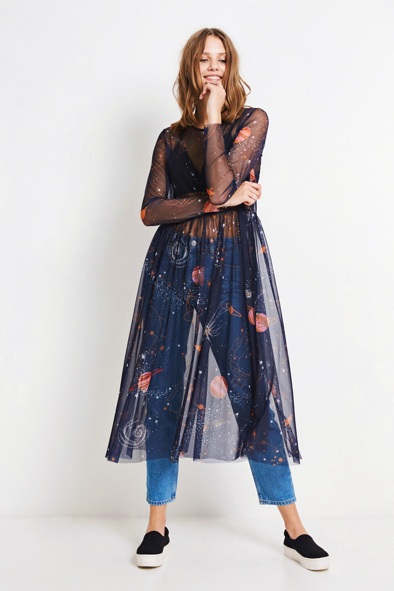 ENZIGGY LS DRESS AOP 5966, COSMIC AOP