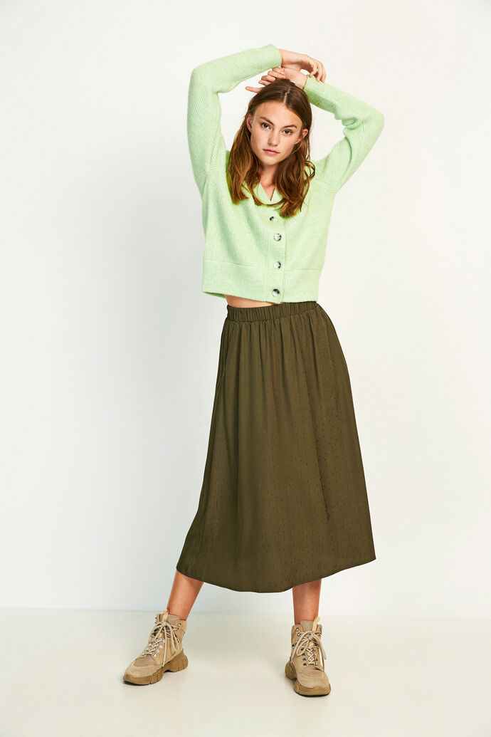 ENJUSTICE LONG SKIRT 6658, OLIVE NIGHT