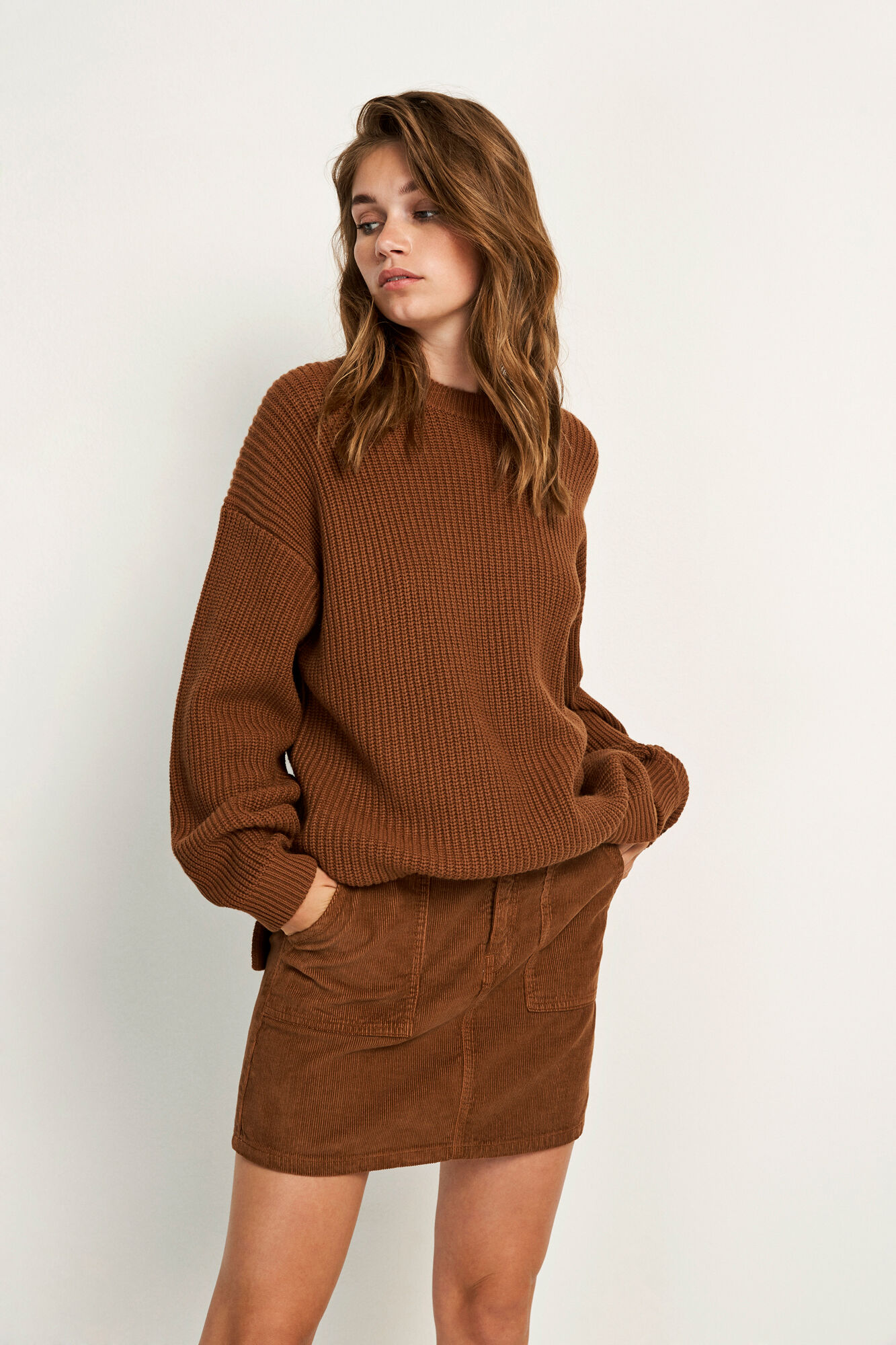 ENDIEGO LS LONG KNIT 5207, TOFFEE