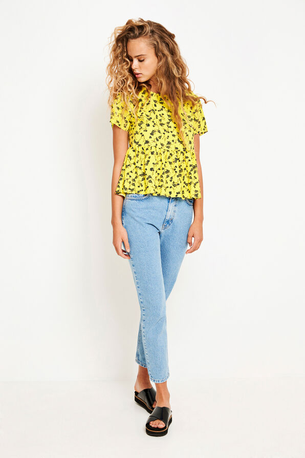 ENSORBET SS TOP AOP 6527, YELLOW BLOOM AOP