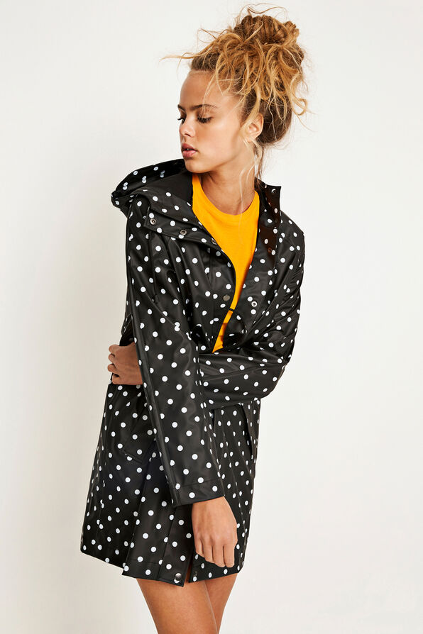 ENCRUMBLE RAINCOAT AOP 6501, BLACK DOT SMALL