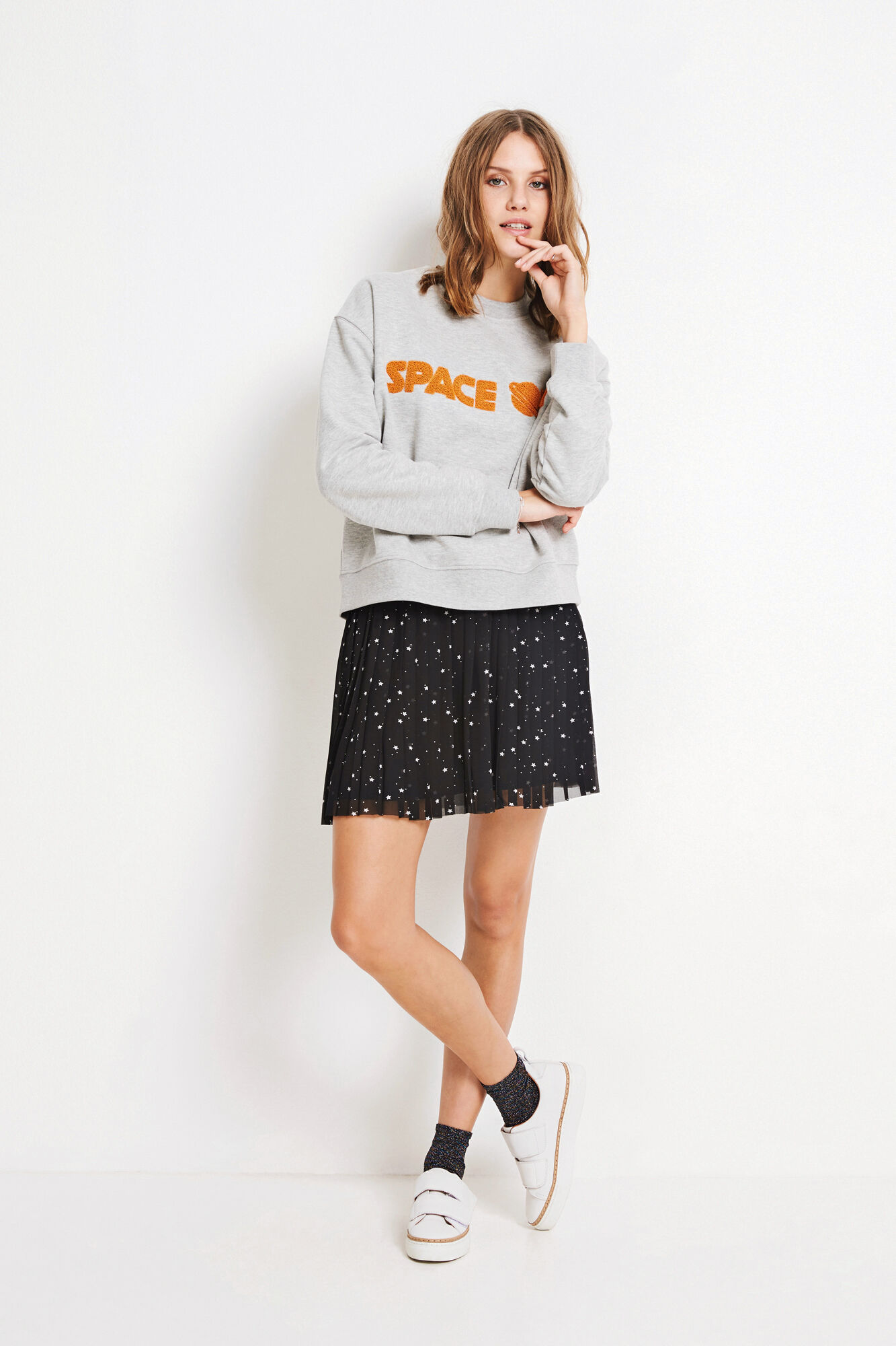 ENCOSMIC LS SWEAT 5899, GREY MEL.