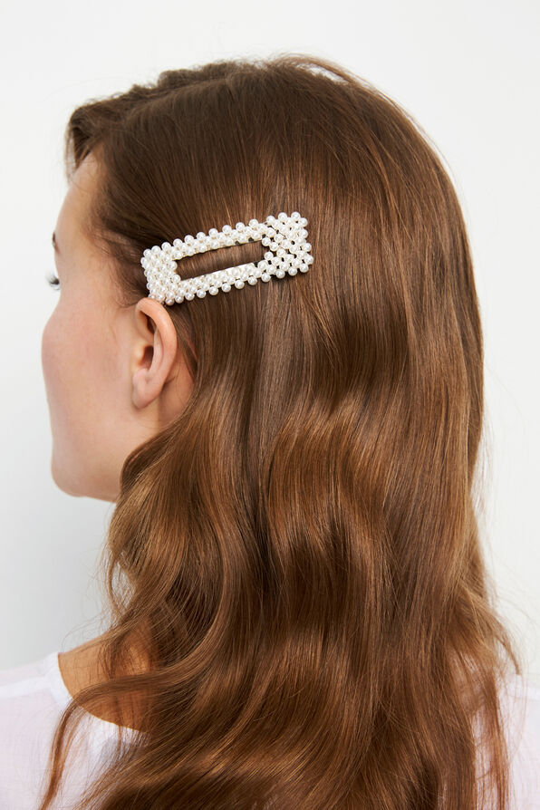 ENCHELLY HAIRCLIP PEARL, GARDENIA