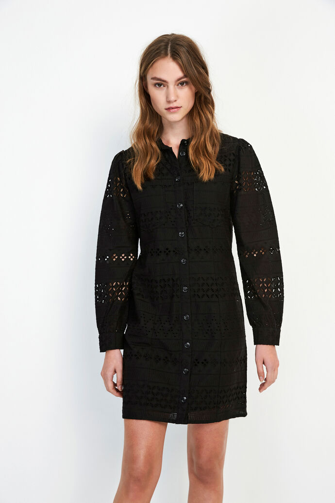 ENCHRIS LS DRESS 6695, BLACK