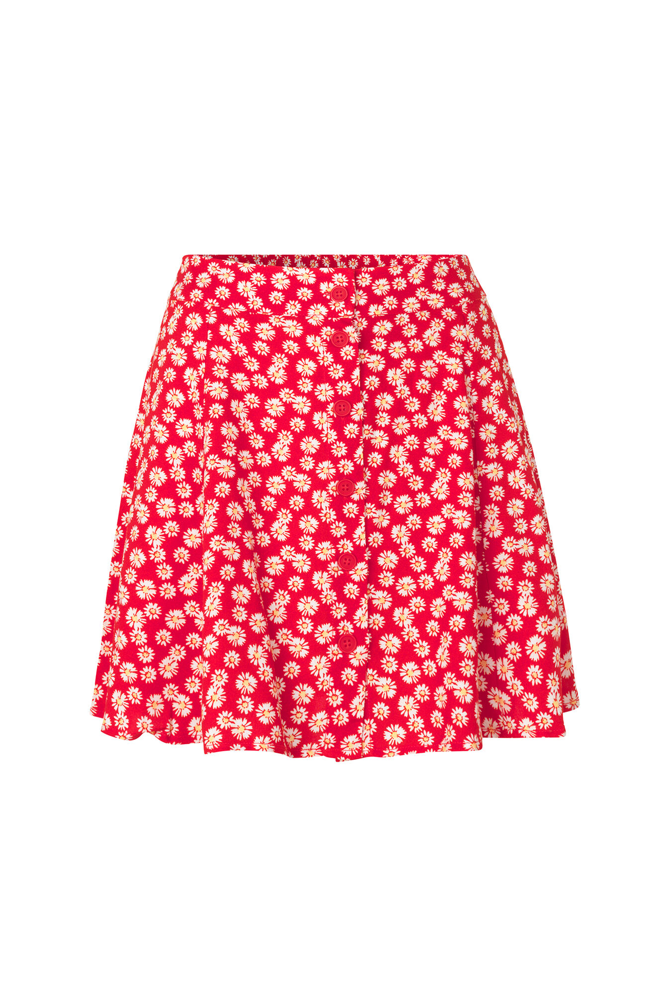 ENSPRINGS SKIRT AOP 6546, RED DAISY AOP