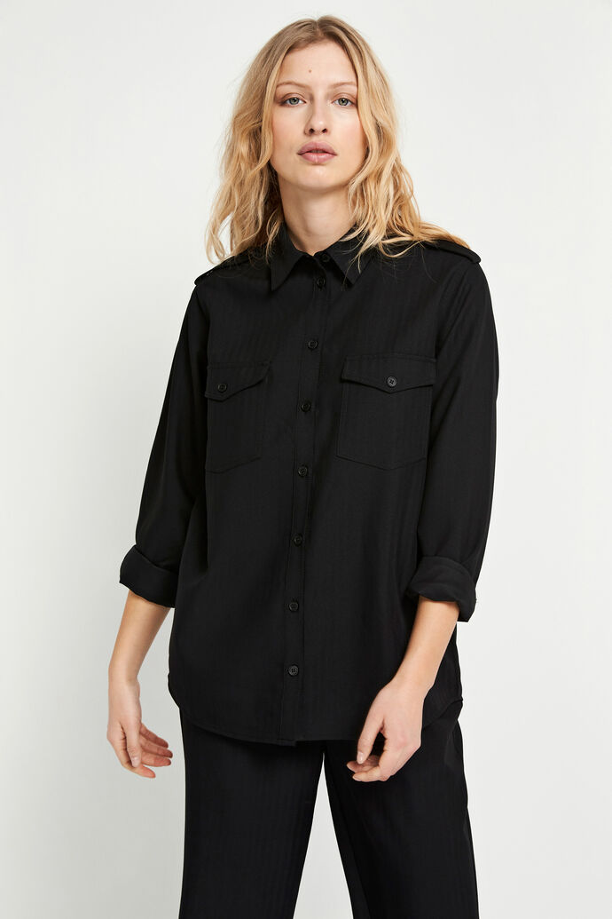 ENSEVEN LS SHIRT 6726, BLACK