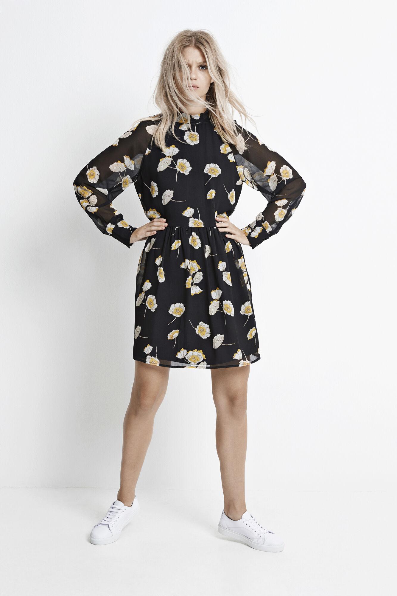 ELLE DRESS AOP 6395, POPPY FLOWER AOP