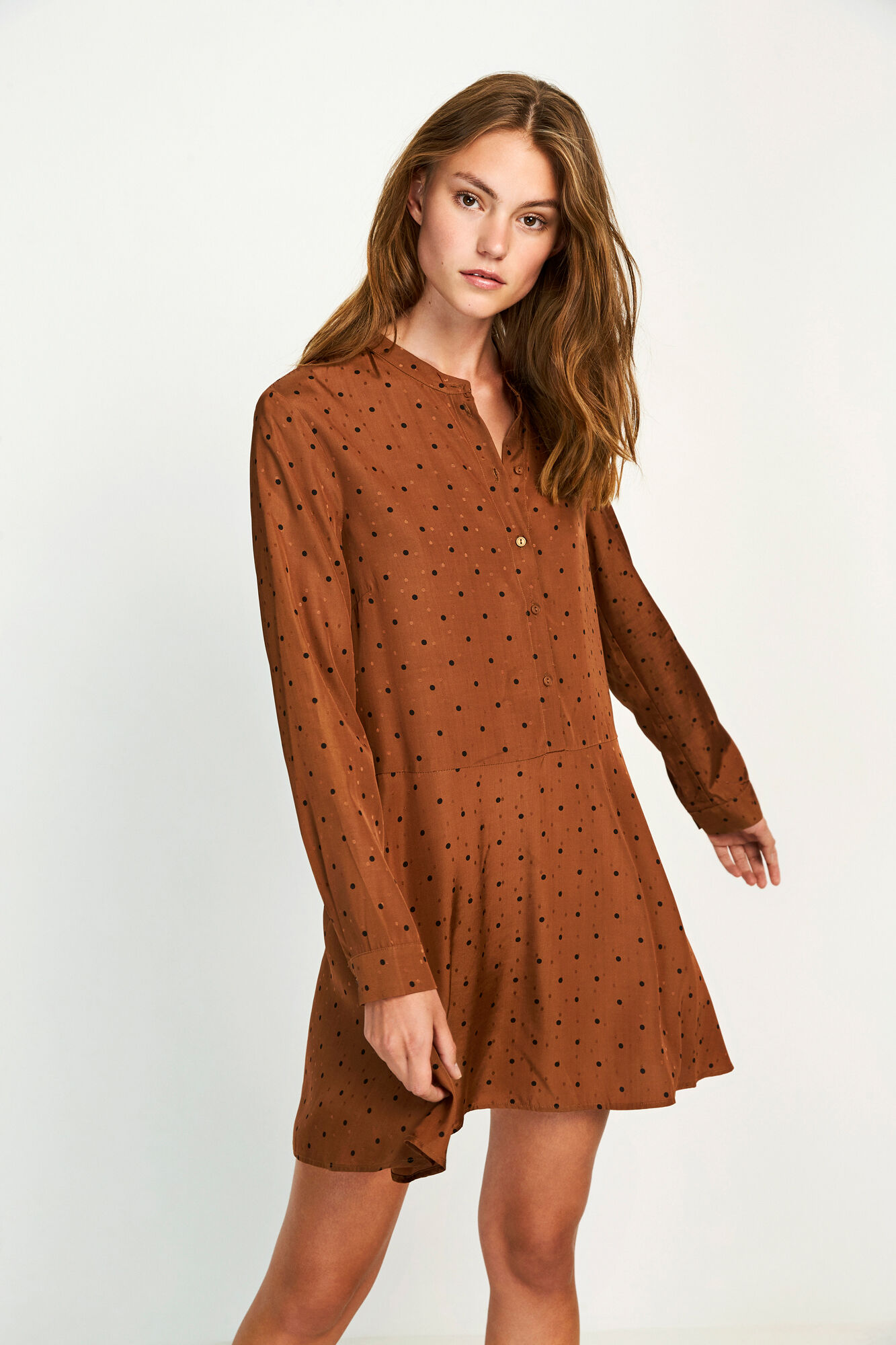 ENBASSWOOD LS DRESS AOP 6658