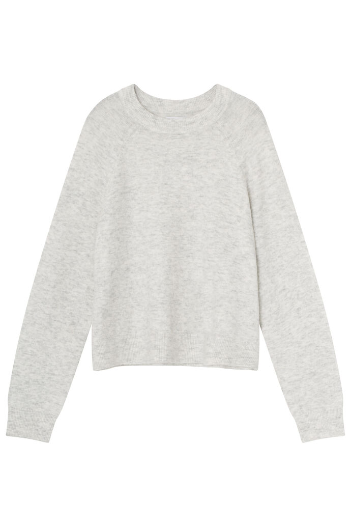 ENSOYA LS KNIT 5223, LIGHT GREY MEL.