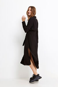 ENDATE LS DRESS 6257, BLACK