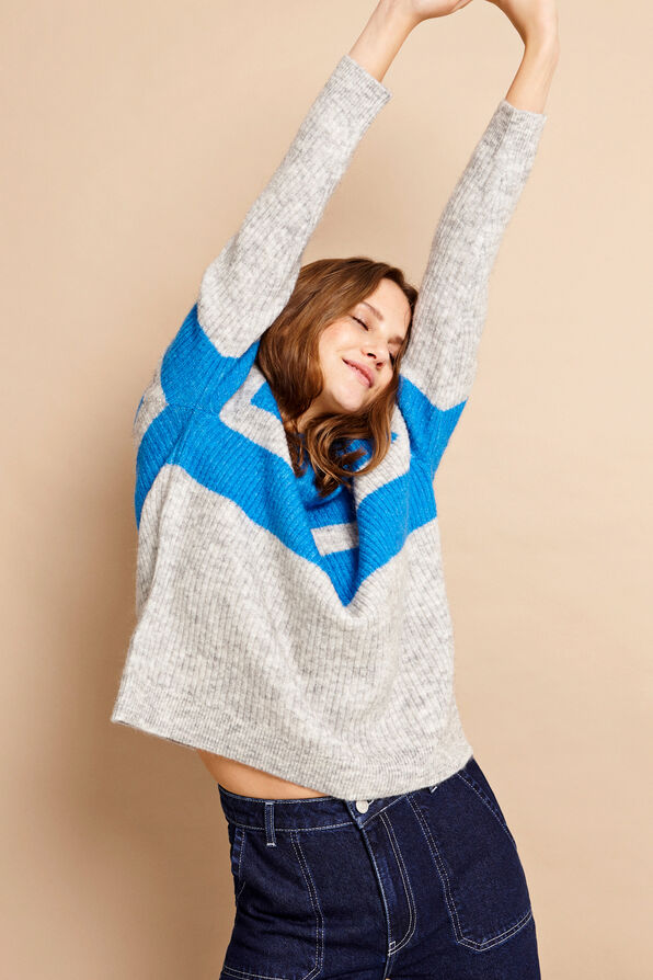 ENBOBO KNIT CONTRAST 5132, IMPERIAL/LGM