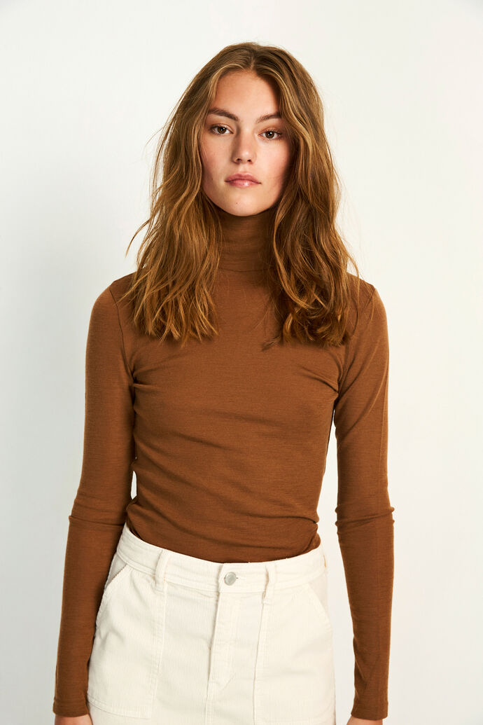 ENVILLY LS T-N TEE 5317, TOFFEE