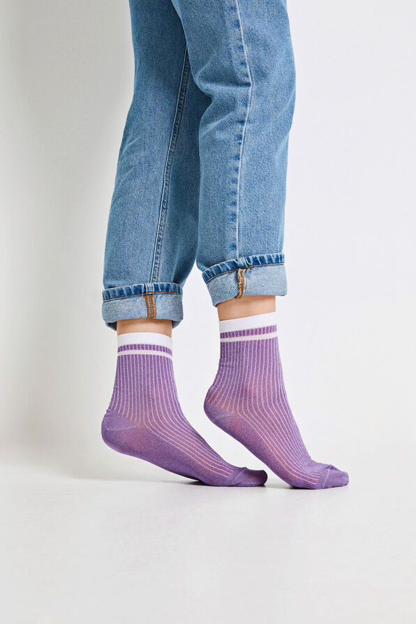 ENLIZ STRIPED SOCKS 5614, LAVENDULA GL.
