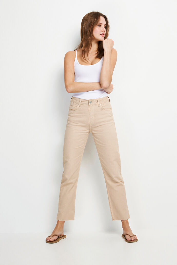 ENBRENDA JEANS CUT 6522, TRAVERTINE