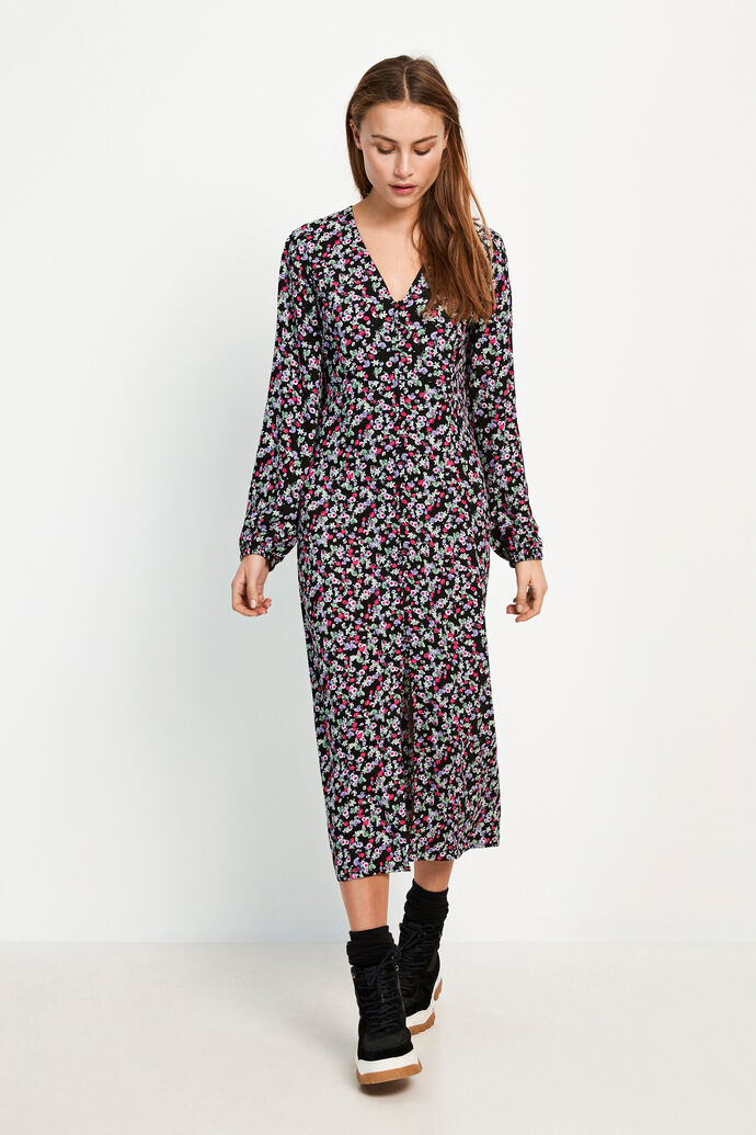 ENJOHN LS LONG DRESS AOP 6642