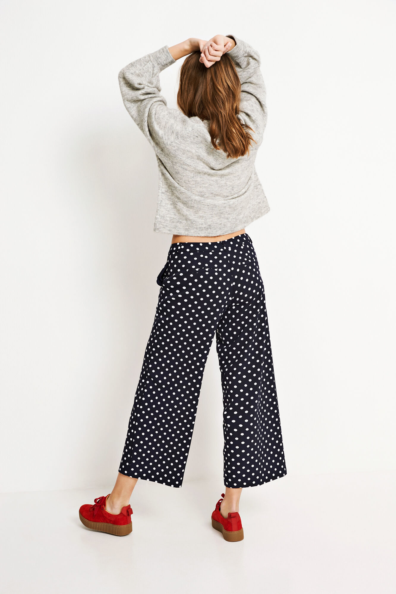ENNITRO PANTS AOP 6417, NAVY DOT BIG