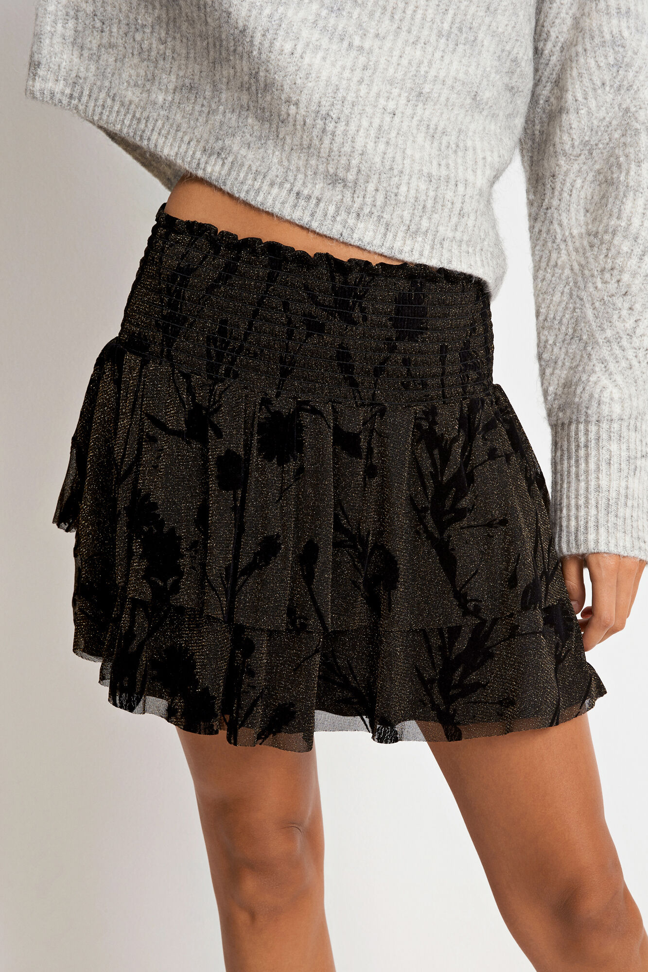 ENPATROL SKIRT AOP 5944, BLACK MEADOW