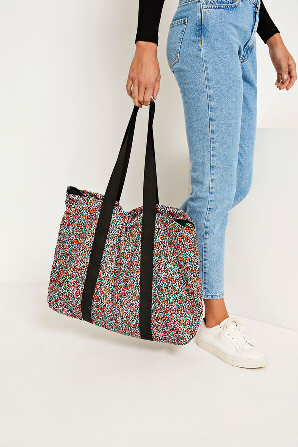ENPEDRO TOTE BAG AOP 6523, FLEUR ORANGE AOP