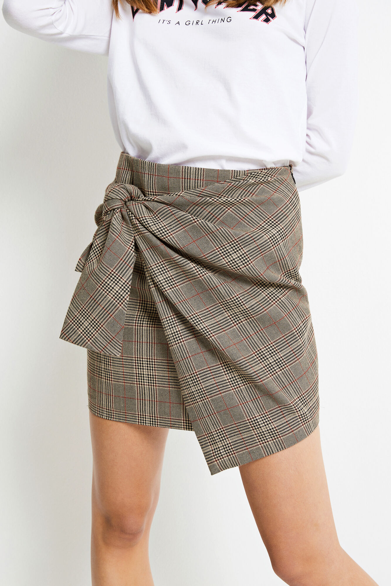 ENAMBER SKIRT CHECK 6472, TWEED CHECK