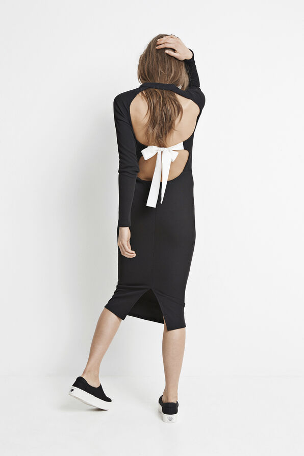 ALEXIS LS DRESS 5850, BLACK