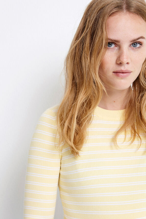 ENKAHLO LS KNIT DB 5121, LEMON DB STRIPE