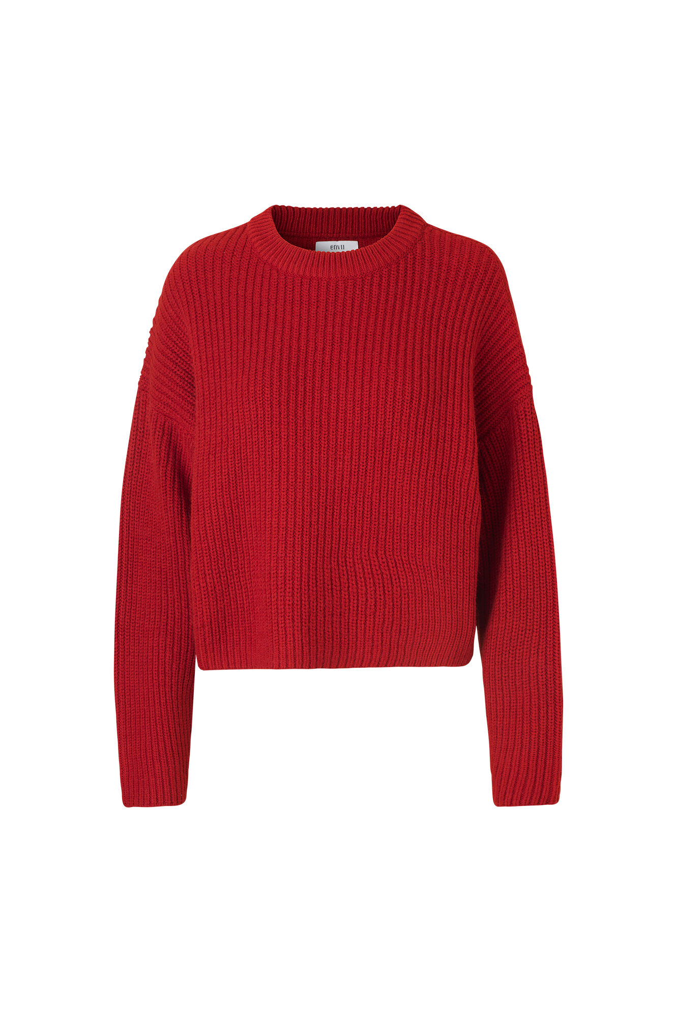 ENTAI LS DROP KNIT 5166, POMPEIAN RED