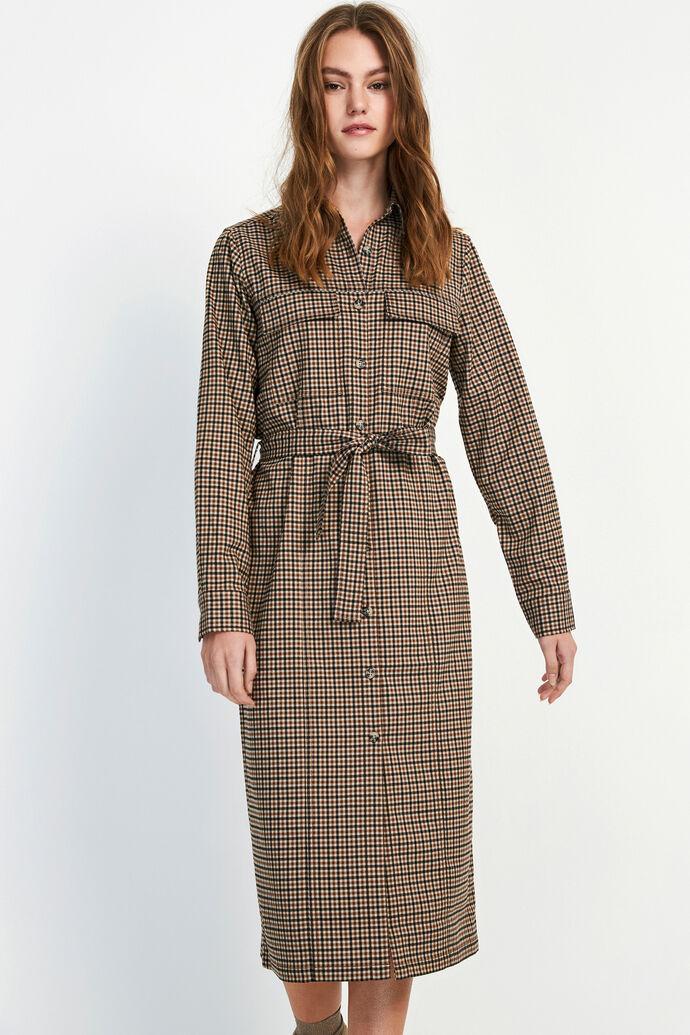 ENCOFFEE LS LONG DRESS 6684, LAVA CHECK