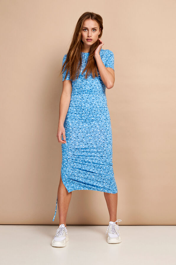 ENZOE SS DRESS AOP 5890, FORGETMENOT AOP