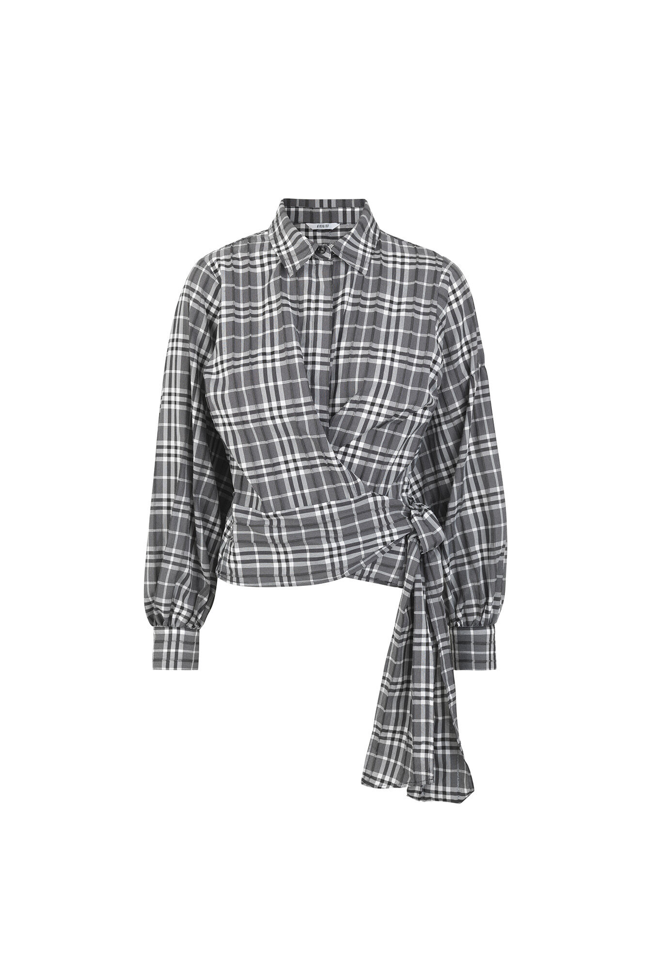 ENCRYSTAL LS SHIRT 6672, B/W CHECK