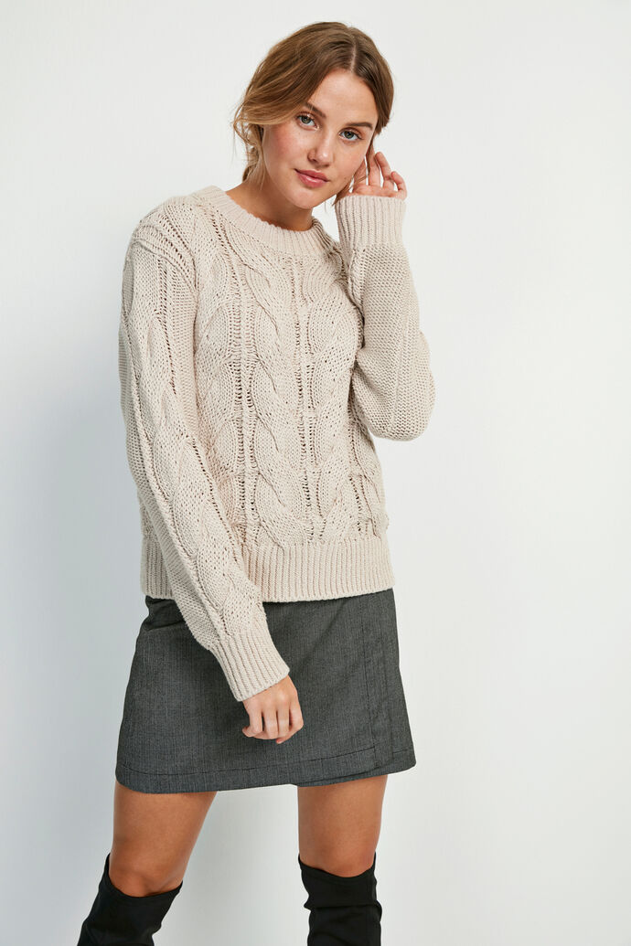 ENSTORM LS KNIT 5190, SMOKEY CREAM