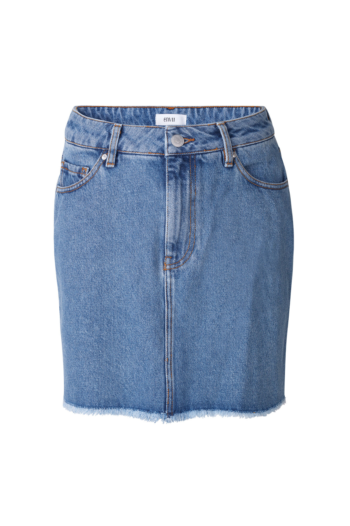 ENCOOKIE DENIM SKIRT 6524, 90S MID BLUE