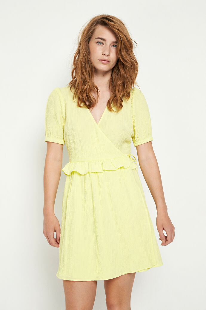 ENSYMPHONY SS DRESS 6737, PALE LIME YELLOW
