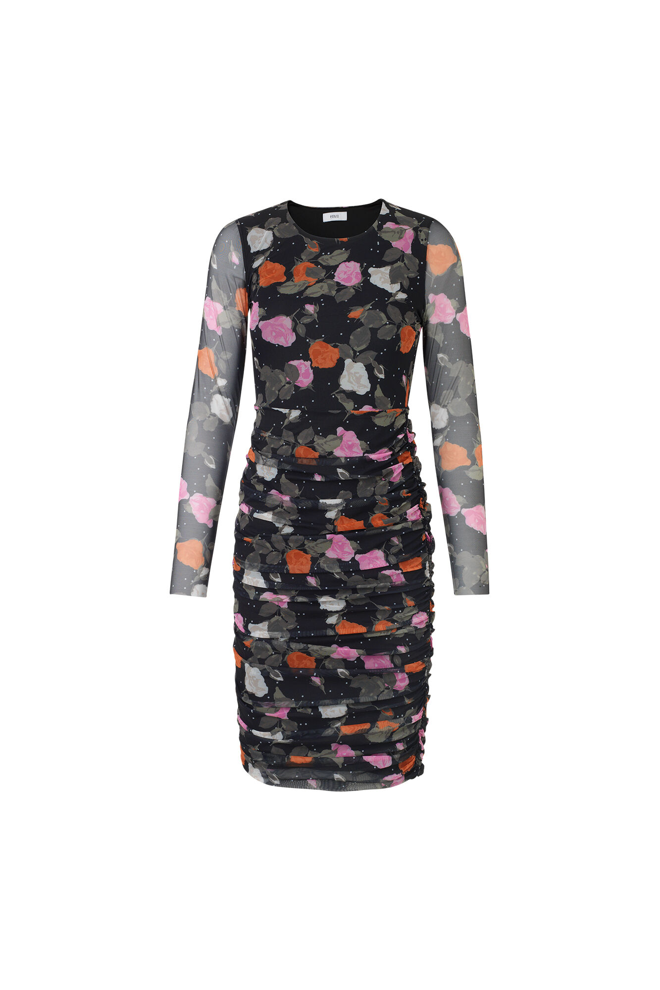 ENSATURN LS DRESS AOP 5937, ROSE DOT AOP