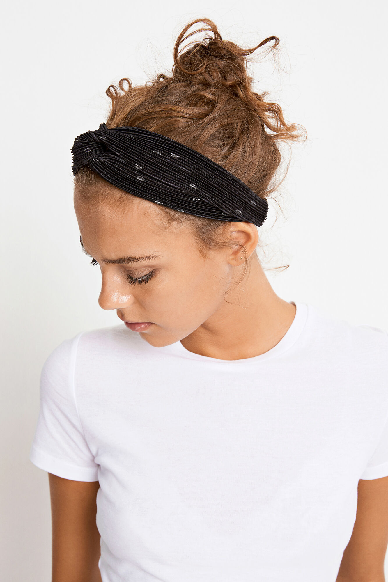 ENWELLY HEADBAND AOP 5942, BLACK SILVER DOT AOP