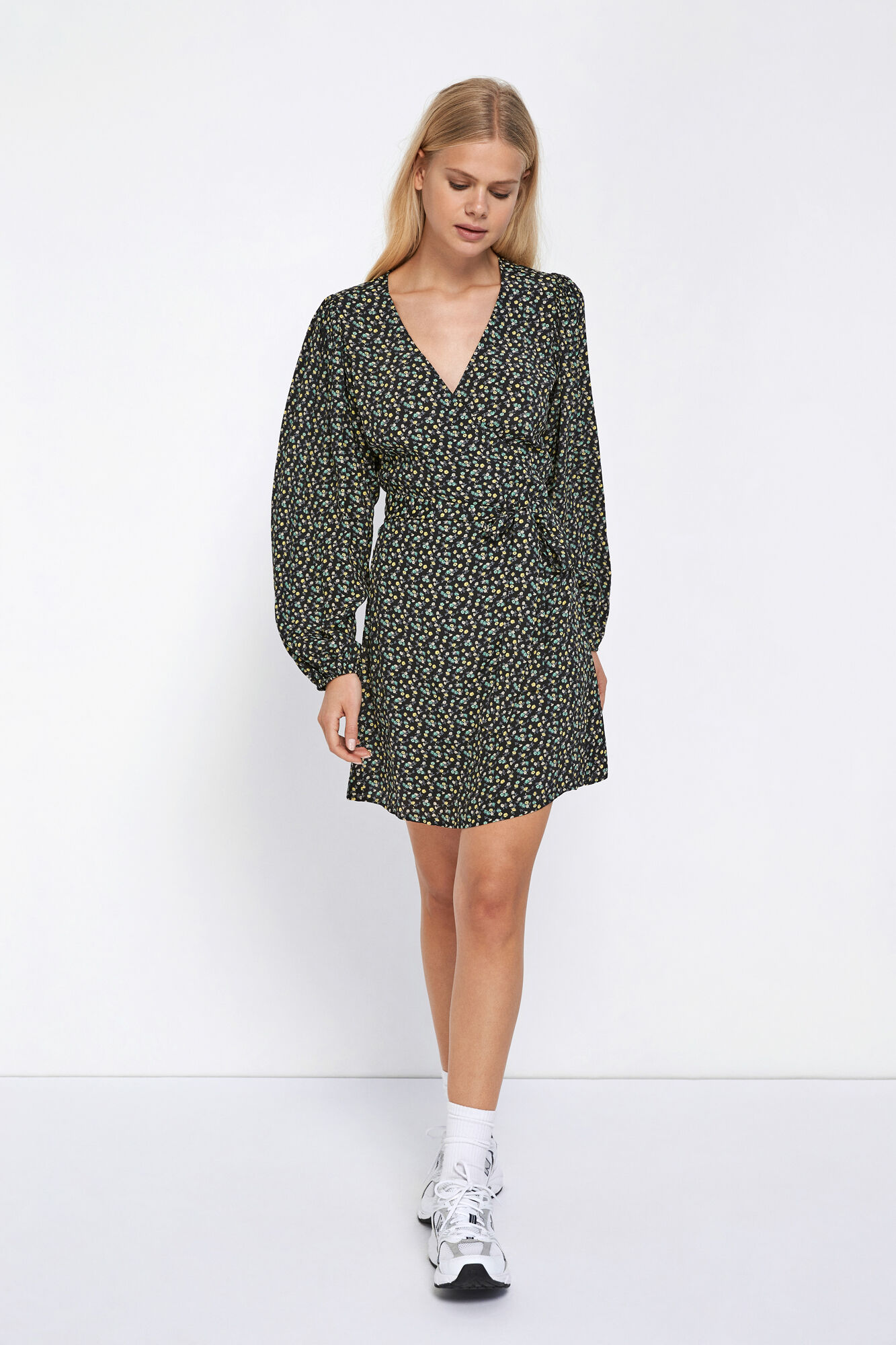 ENRYE LS V-N DRESS AOP 6257