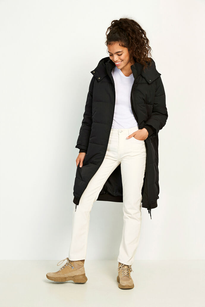 ENTABLE LONG JACKET 6653, BLACK