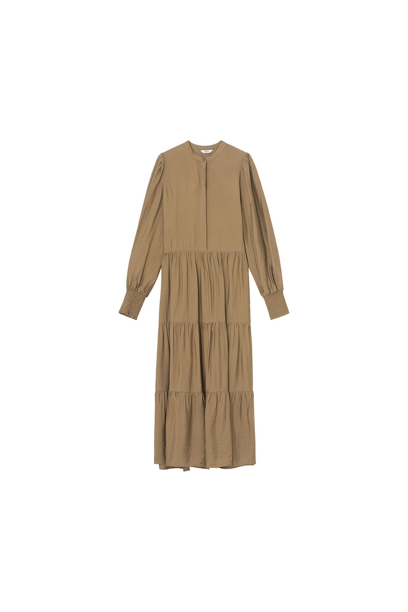 ENDOWNING LS MAXI DRESS, ERMINE