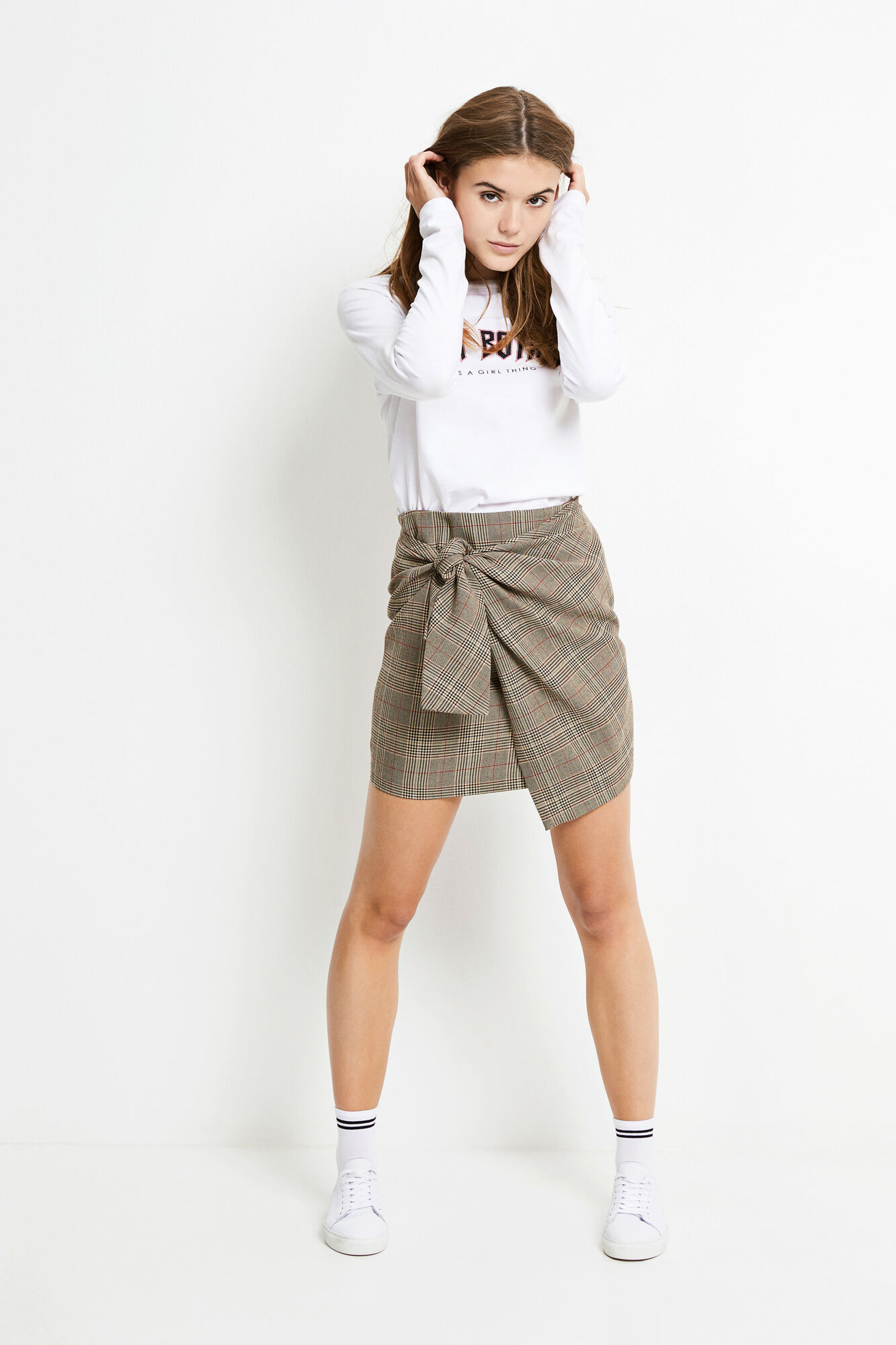 ENAMBER SKIRT CHECK 6472