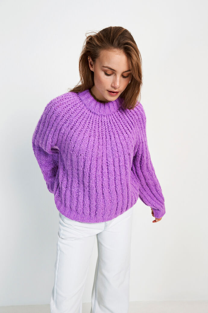 ENSTROLL LS PATTERN KNIT 5212, ELECTRIC MEL