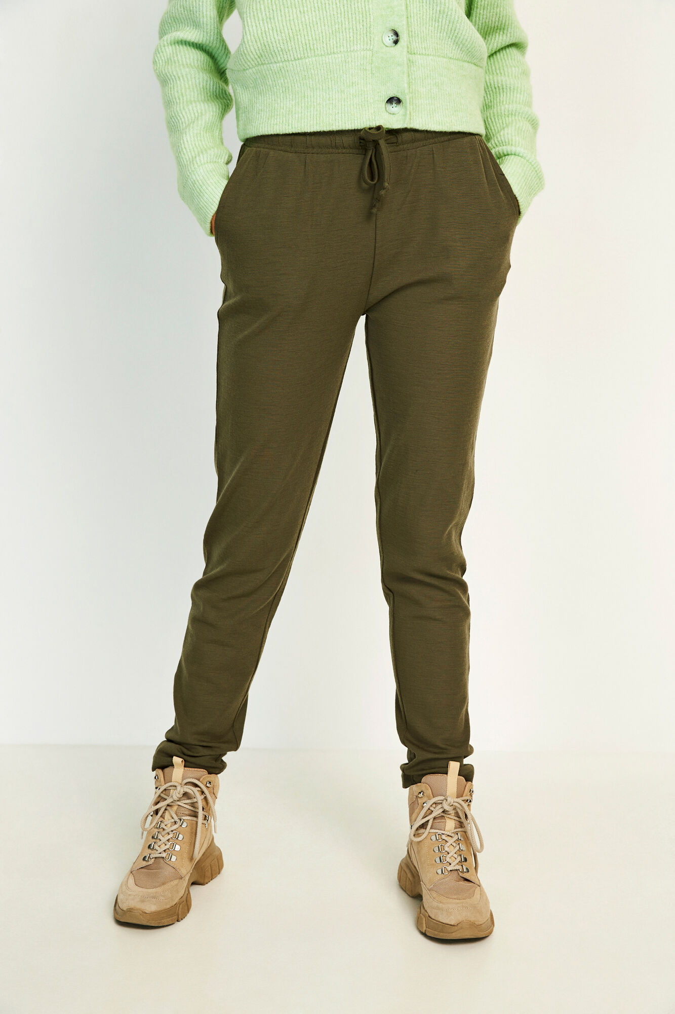 ENVILLY PANTS 5317, OLIVE NIGHT
