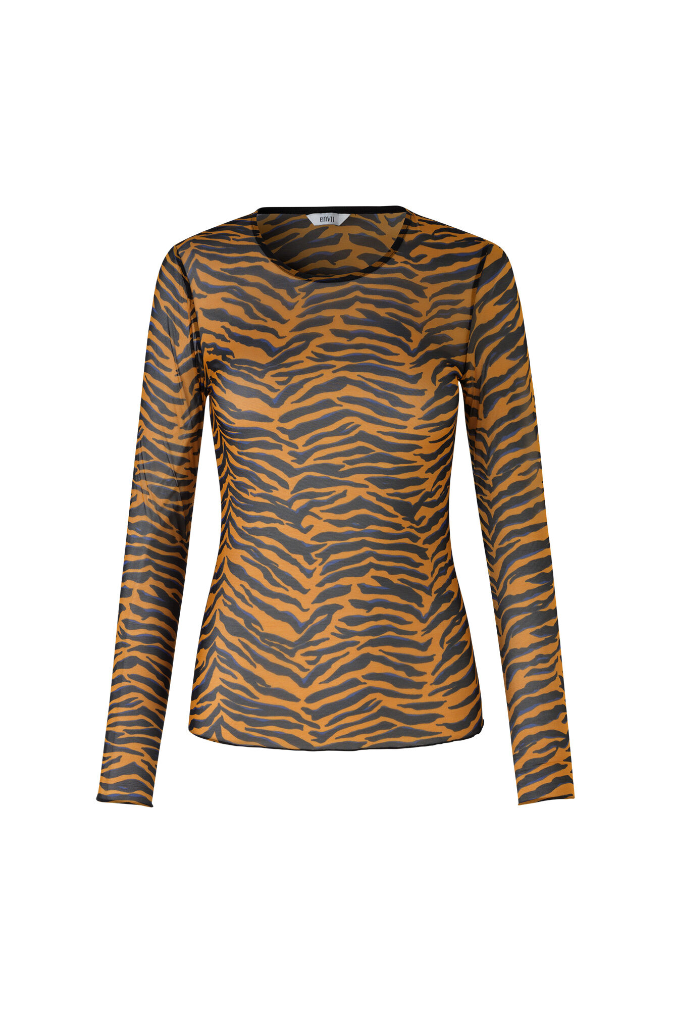 ENRESORT LS TEE AOP 5954, SUDAN BROWN TIGER AOP