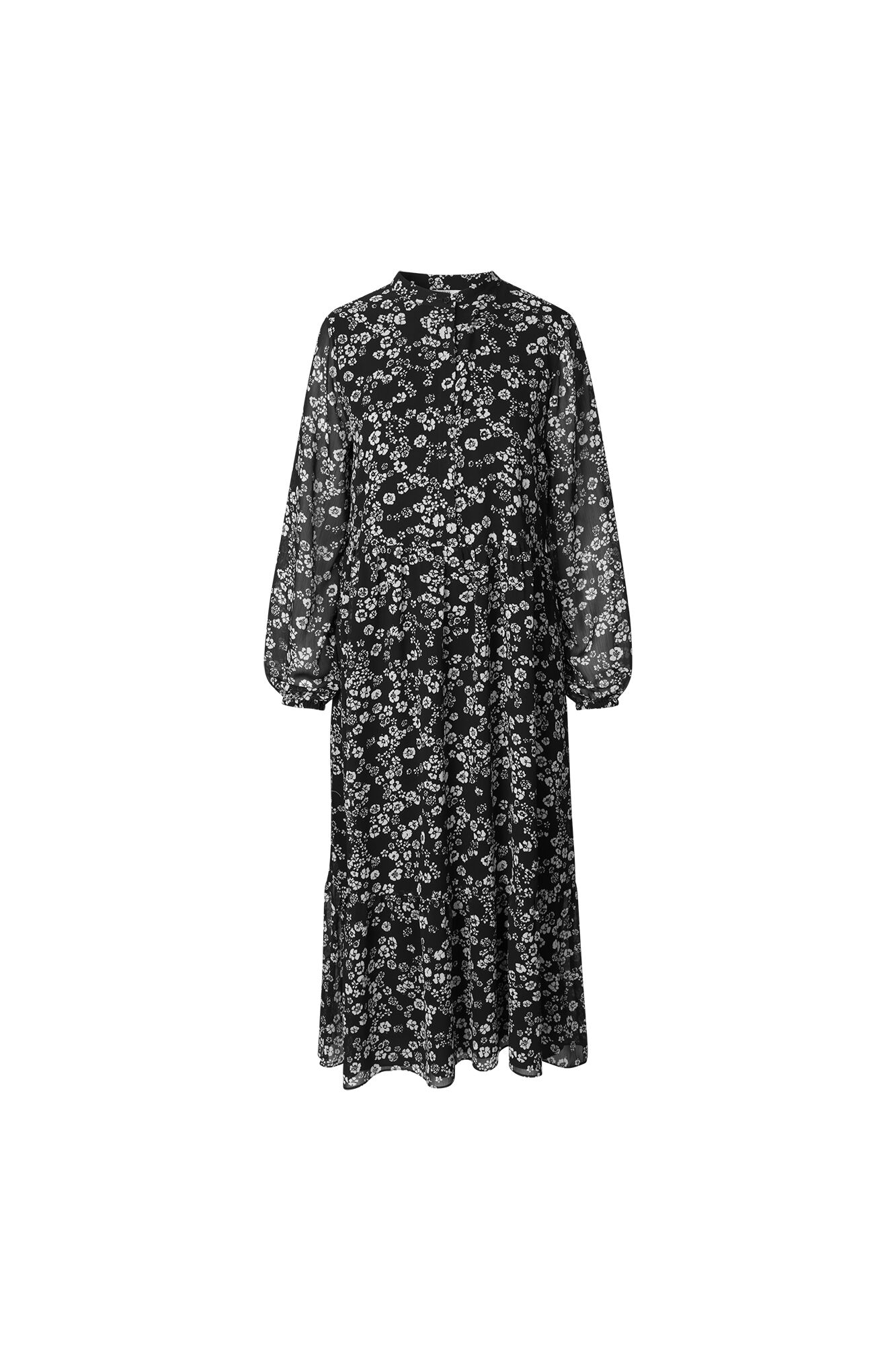 ENDALIA LS LONG DRESS AOP 6687