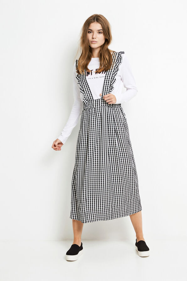 ENDORM MIDI SKIRT 6473, GINGHAM CHECK
