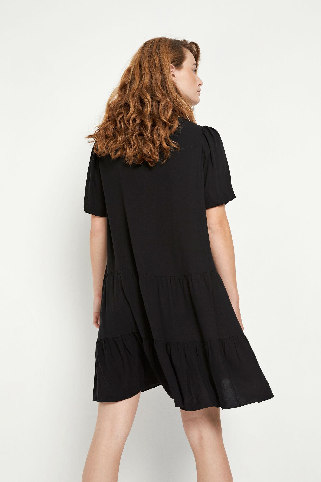 ENFIREBIRD SS DRESS 6736, BLACK