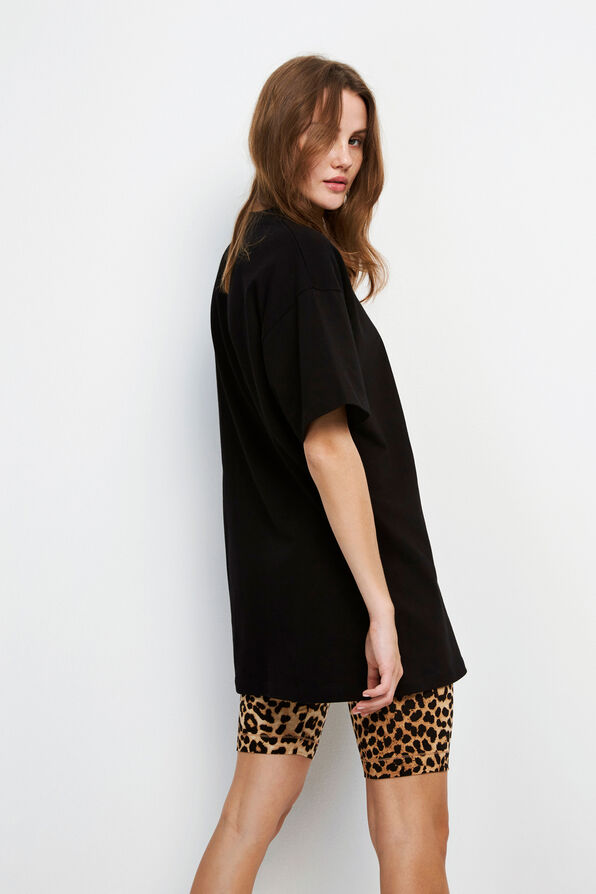 ENELECTRIC SS LONG TEE 5307, BLACK