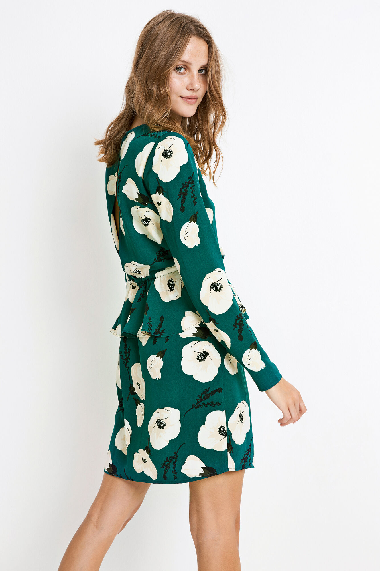 ENALPS LS DRESS AOP 6392, HIBISCUS AOP